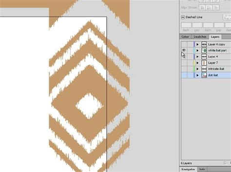 ikat pattern adobe illustrator creating more movement ikat in illustrator photoshop and