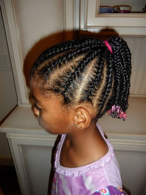 ducky braids cornrows into ponytail afro amerikids pinterest