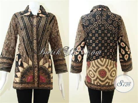 Dress Batik Handmade Kode T 881683 busana batik handmade proses tulis blus batik bagus mahal mewah berkelas bls1466t m