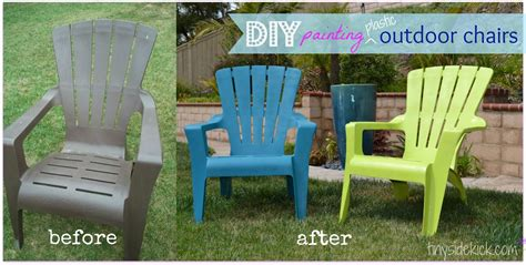 Paint For Outdoor Plastic Furniture see how i painted plastic outdoor chairs