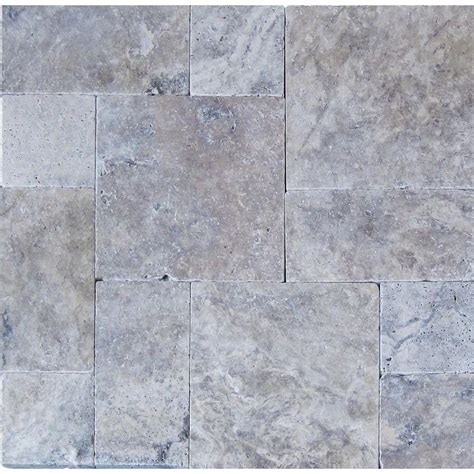 msi silver pattern 16 in x 24 in tumbled travertine