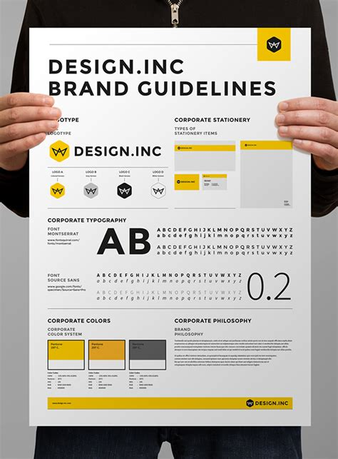 guidelines for layout design brand manual and identity poster on behance