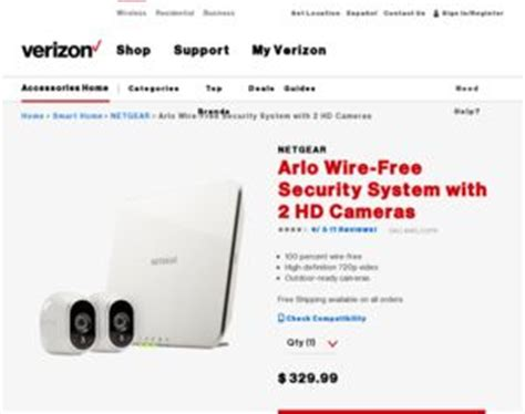 netgear arlo wire free security system with 2 hd cameras