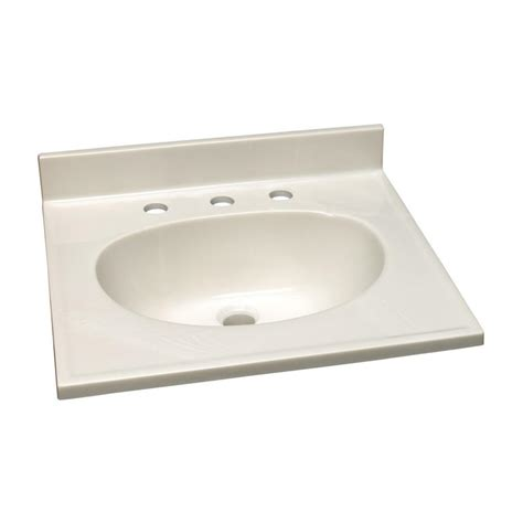 design house vanity top design house 25 in w cultured marble vanity top in white on white and 8 in faucet spread
