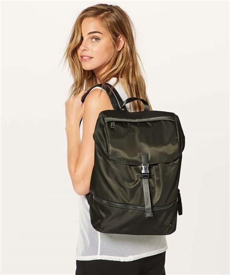 lululemon go lightly backpack lululemon go lightly rucksack 26l olive lulu