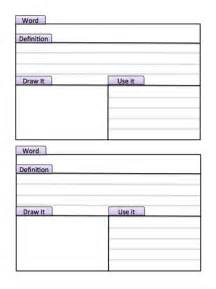 vocabulary journal template 9 best images of vocabulary journal printable vocabulary