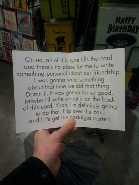 A Funny  Ee  Birthday Ee   Card For When Youre Not Sure To Write