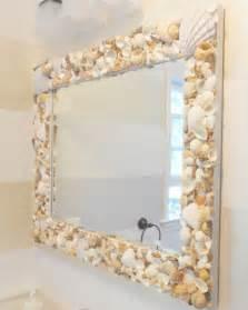 shell bathroom mirror diy mirror frames ideas to do at home
