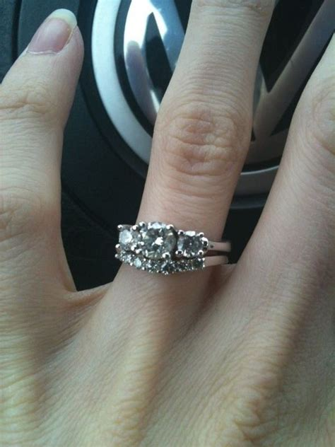 show me your 3 rings with wedding band updated