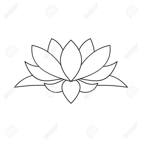 outline of lotus flower lotus flower outline flowers