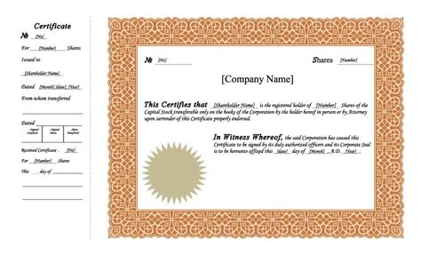 certificate templates uk 40 free stock certificate templates word pdf