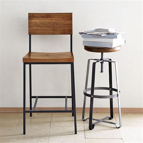 West Elm Rustic Counter Stool by Industrial Stool West Elm And Stools On