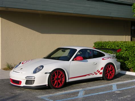 porsche white gt3 porsche gt3 rs in luxury wrap white with red accents