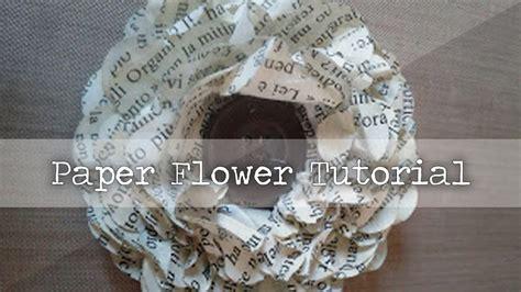 vintage paper flower tutorial vintage paper flower tutorial