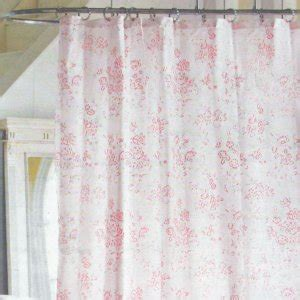 simply shabby chic pink floral toile cottage cabbage rose shower curtain target