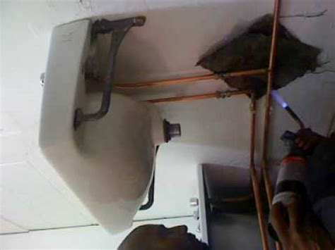 installing a bathroom suite video 8 by leeharhome installing copper piping in