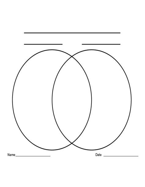 template for venn diagram with 2 circles 2 circle venn diagram template free download