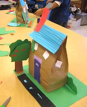 Paper Bag House Craft - paper bag houses things to make and do crafts and