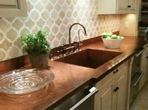 Becolorful Color Of The Week Copper Becolorful Copper Kitchen Countertops