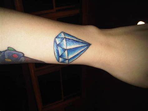 blue diamond tattoo images designs
