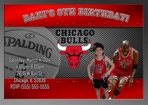 nba printable birthday invitations nba chicago bulls birthday invitation kustom kreations