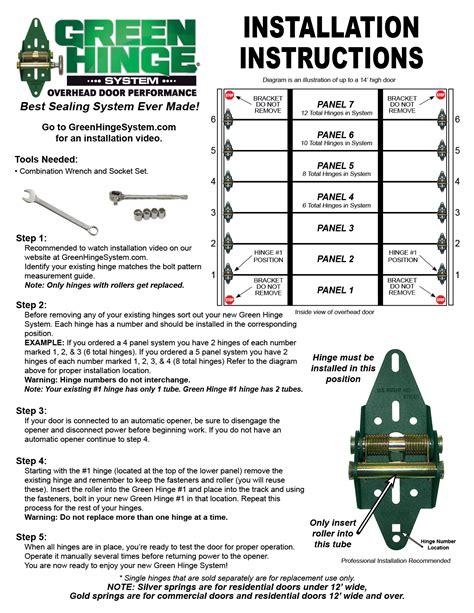 Overhead Door Installation Manual Garage Door Installation Guide Floors Doors Interior Design