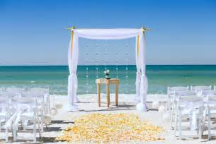 Decorated Wedding Arbors Florida Beach Ceremony Packages By Sun And Sea Beach
