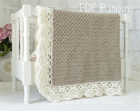 crochet pattern edging baby blanket crochet baby blanket claire 144 ccp by kyoko ccp craftsy
