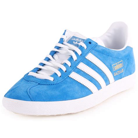 adidas gazelle og womens suede blue white trainers new shoes all sizes ebay
