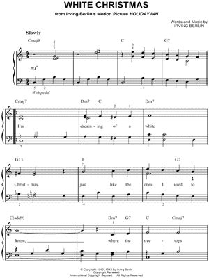 white inn lyrics crosby quot white quot sheet easy piano