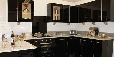 Black Gloss Kitchen Cabinets Black High Gloss Kitchen