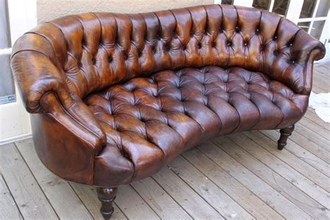 unique leather sofas unique leather tufted sofa c 1920 s at 1stdibs