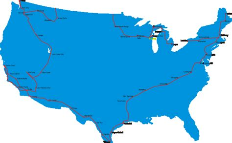 us map with selected cities united states select cities map untied states mappery