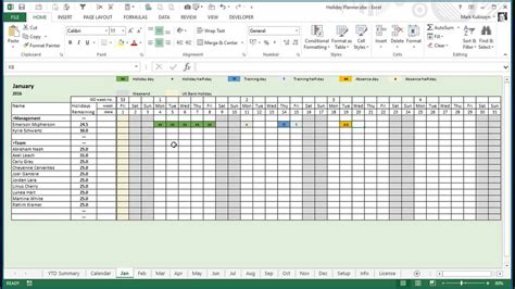 staff planner excel template employee vacation calendar 2018 excel calendar monthly 2018