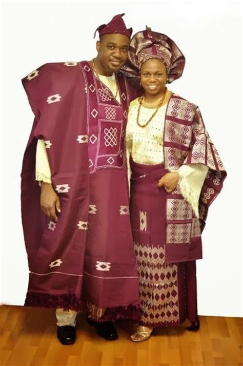 nigerian traditional outfits african clothing burgundy and cream african attire for