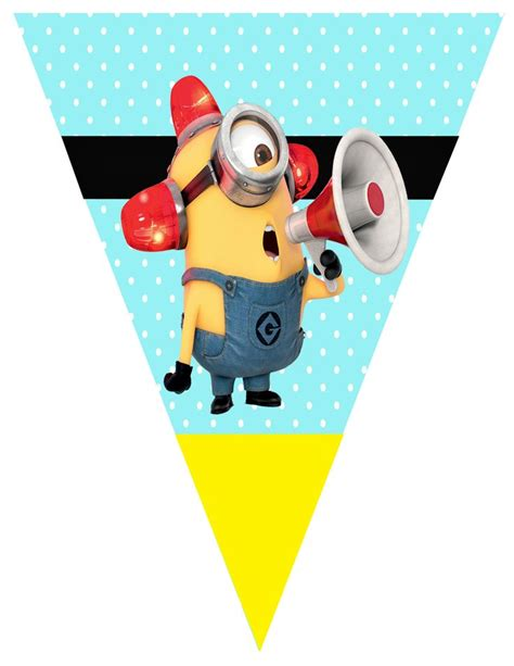 Bunting Flag Happy Birthday Banner Hbd Karakter Minion minion flag banners my design flags minions and banners
