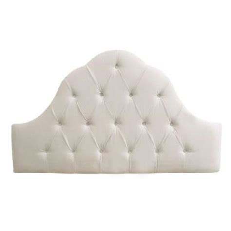 Velvet Buttoned Headboard by Home Decorators Collection Montpelier White Velvet Button