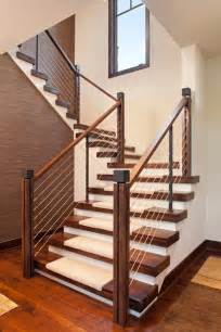 Contemporary Staircase Modern Stair Railing Staircase Contemporary With