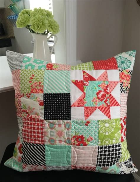 Poetic Patchwork - patchwork pillow poetry and hearts quilting cubby