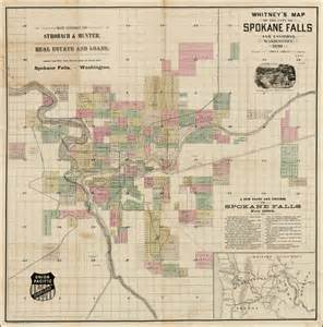 spokane map s map of the city of spokane falls and environs washington 1890 barry