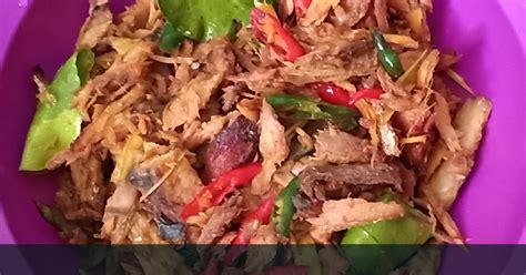 resep tongkol suir pedas enak  sederhana cookpad