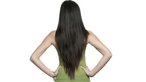 pelo cortado en pico el corte v es ideal para que el cabello crezca mas