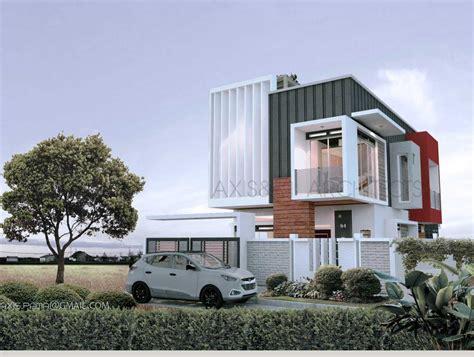 desain rumah dengan rooftop model desain tak depan rumah minimalis 2 lantai yang