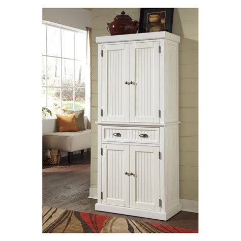 home styles nantucket pantry distressed white pantry
