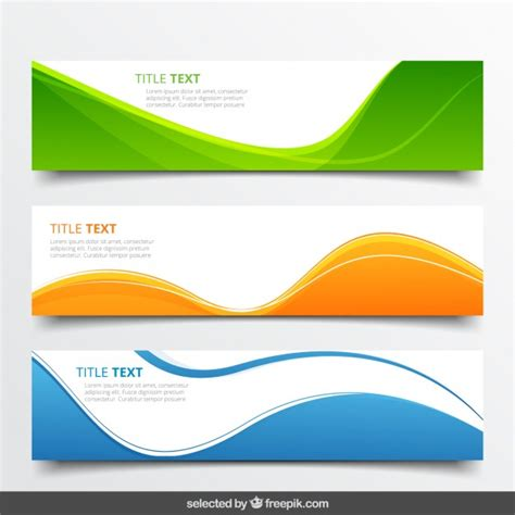 vector header tutorial abstract wavy banners vector free download