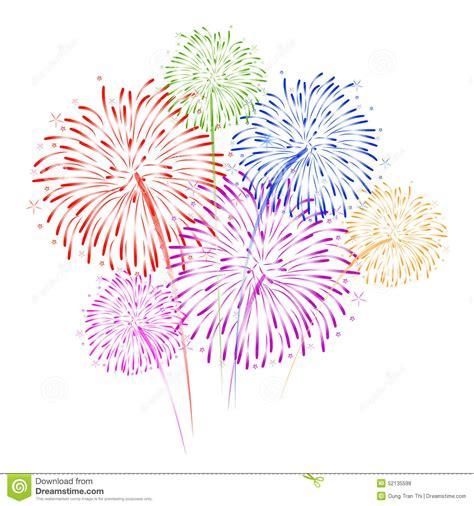 clipart capodanno fireworks on white background vector illustration stock