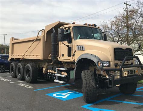 volvo group shows mack granite based ma dump truck  ausa  trucking news