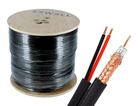 Ls Cable System Rg59 Power bulk rg59 power siamese cable 1000 ft spool black sewelldirect