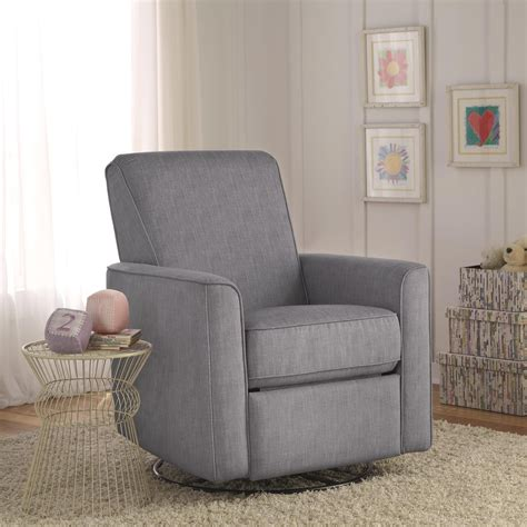 Zoey Grey Nursery Swivel Glider Recliner Chair Is Swivel Reclining Chairs