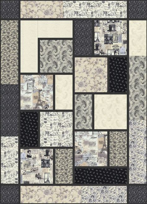 Easy Big Block Quilt Patterns Free by Letters From The Big Block Quilt By Black Cat